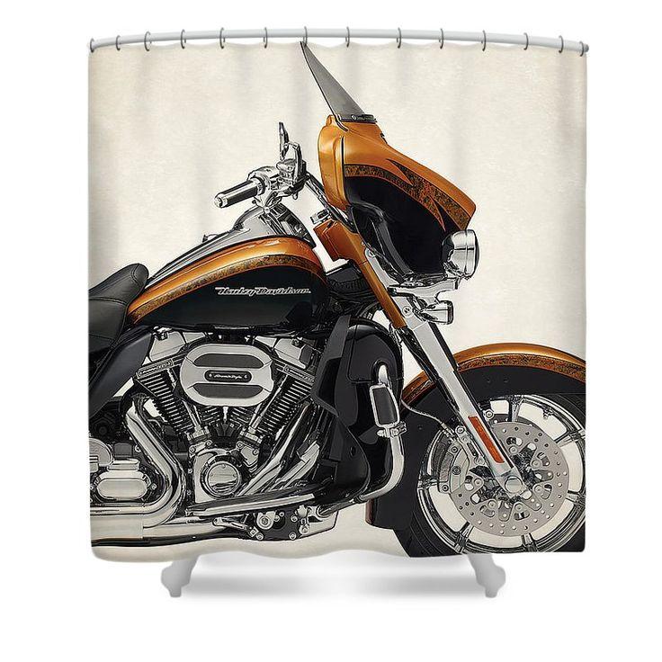Harley Davidson Cvo Limited 2015 Shower Curtain For Sale By Stephanie  Hamilton