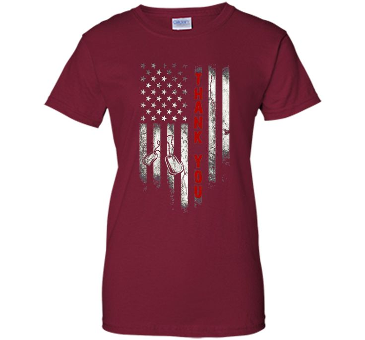 Thank You T-Shirt Memorial Day American Flag T-Shirt
