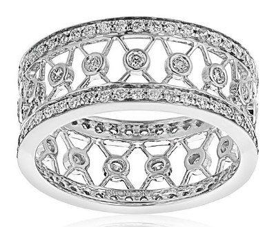 Diamond White Gold Eternity Ring   ►►http://www.gemstoneslist.com/rings/diamond-eternity-rings.html?i=p
