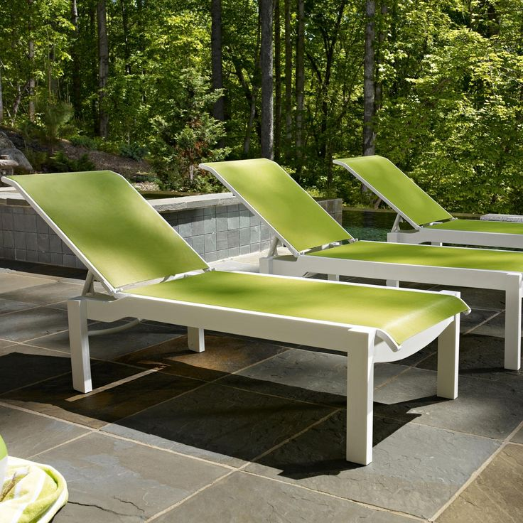 telescope casual leeward sling patio set with stacking chaise lounges