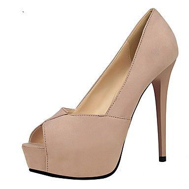 Γυναικεία+παπούτσια-Τακούνια-Φόρεμα-Τακούνι+Στιλέτο-Με+Τακούνι+/+Μυτερό+/+Ανοιχτή+Μύτη-Σουέτ-Μαύρο+/+Ροζ+/+Κόκκινο+/+Γκρι+/+Χακί+/+Κοραλί+–+USD+$+25.99