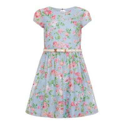 Yumi Girl Floral printed lace dress- at Debenhams.ie