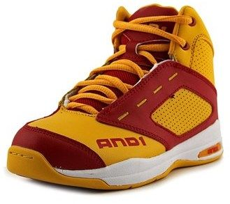 AND 1 Typhoon Youth Round Toe Leather Yellow Basketball Shoe.