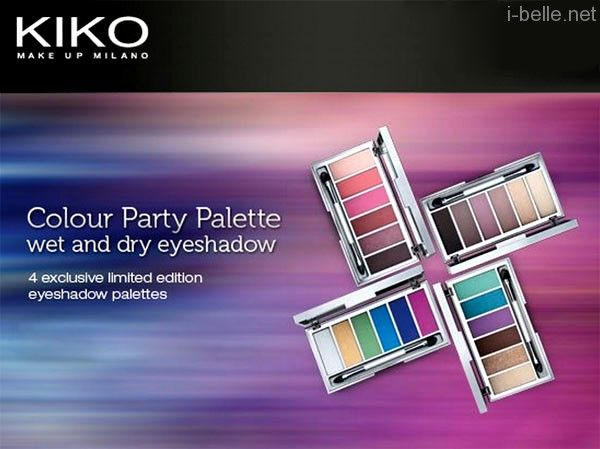 New: KIKO make up Milano Colour Party Palette Wet and Dry Eyeshadow palettes