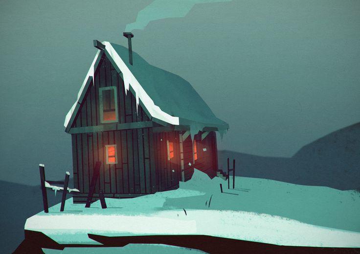 ArtStation - The Long Dark - the cabins, Trudi Castle