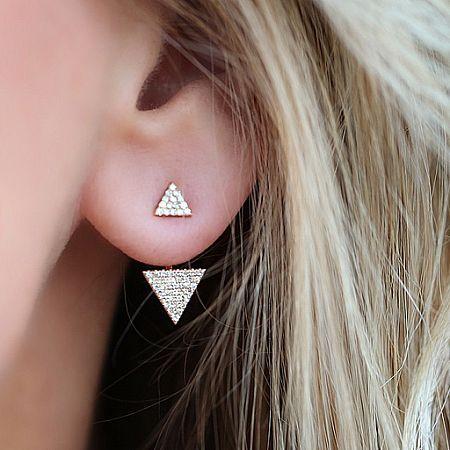 Diamond Double Triangle Ear Jacket : SLDesigns.com