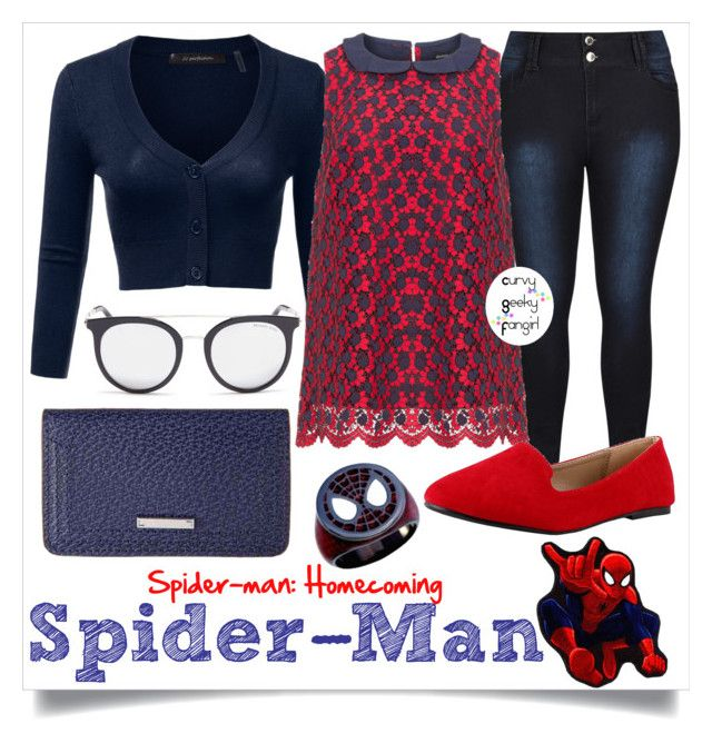 Spider-Man by curvygeekyfangirl on Polyvore featuring Manon Baptiste, Lodis, Michael Kors and Marvel