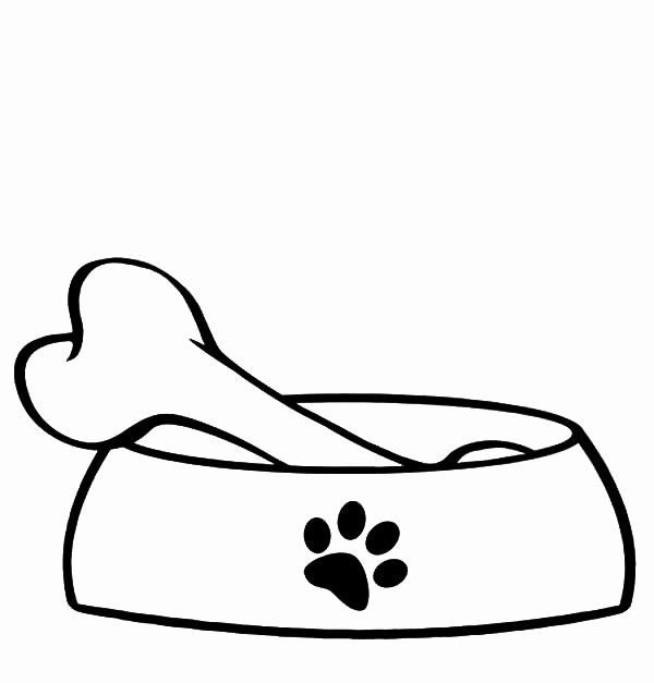 Dog Bone Coloring Page Beautiful Bowl Coloring Page Clipart Best Dog Bone Coloring Pages Paw Patrol Coloring