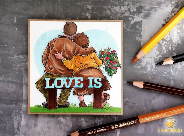 As if by magic by Olesya Kharkova: Love is | Valentine's day card