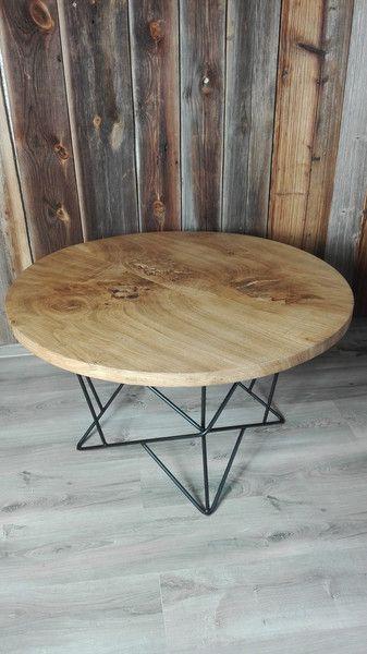 Couchtische   Möbel Aus Altholz   Eichenholz Couchtisch Rund   Ein  Designerstück Von OliArt Bei DaWanda