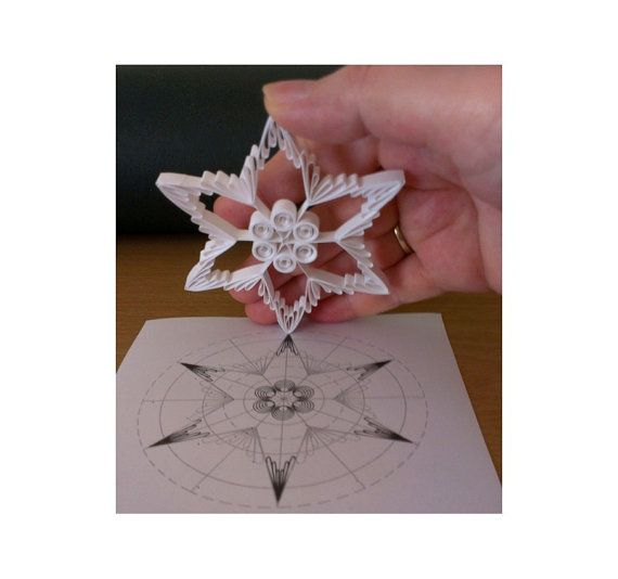 This lovely white paper star made with just 12 paper strips. Download this pattern you will be able to make your own ornament pictured above. Print