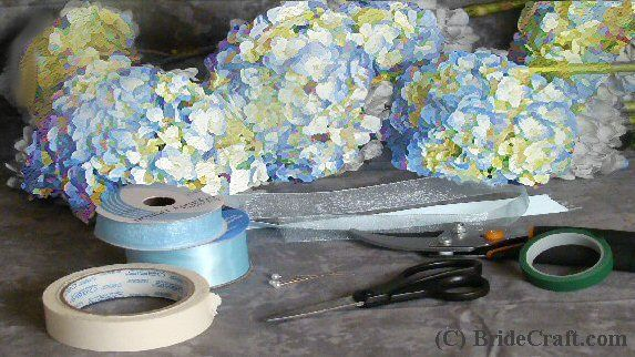 Step by step hydrangea bouquet tutorial