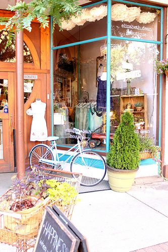 Elizabeth dean boutique store fronts and display window