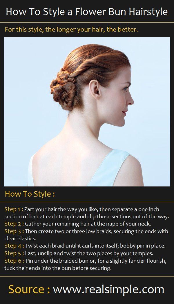 The Flower Bun Hairstyle | Beauty Tutorials