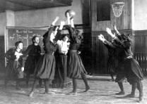 Western High School Girls' Basketball, Washington, DC, 1899. (Courtesy Library of Congress Prints and Photographs Division)
