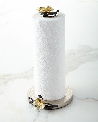 Gold+Orchid+Paper+Towel+Holder+by+Michael+Aram+at+Horchow.