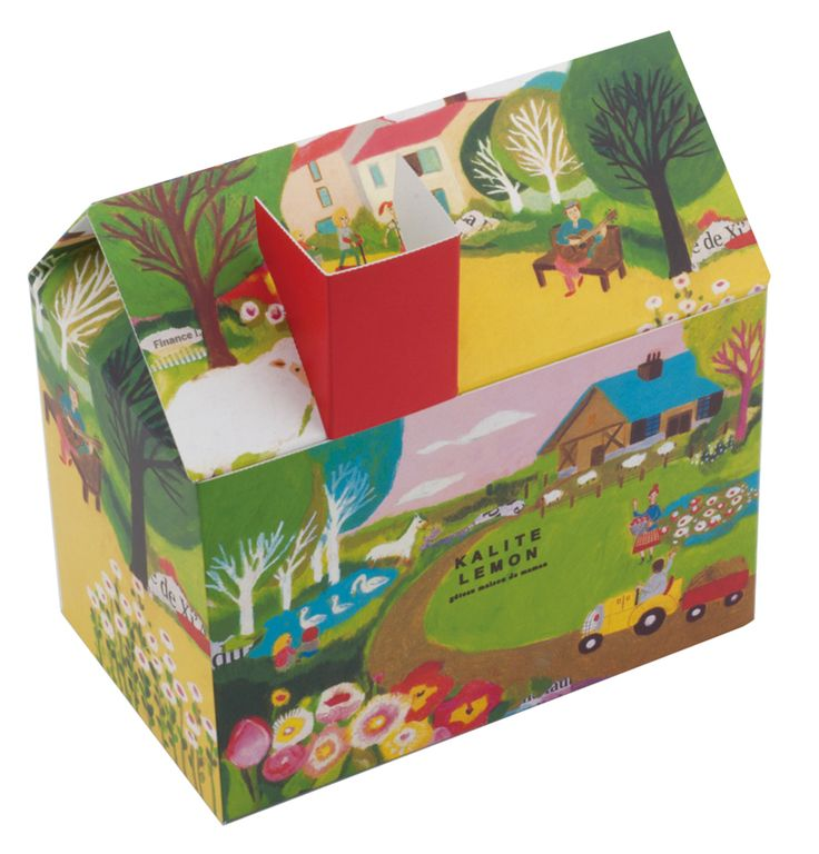 Cool cake #packaging. Illustration by Keiko Shibata PD