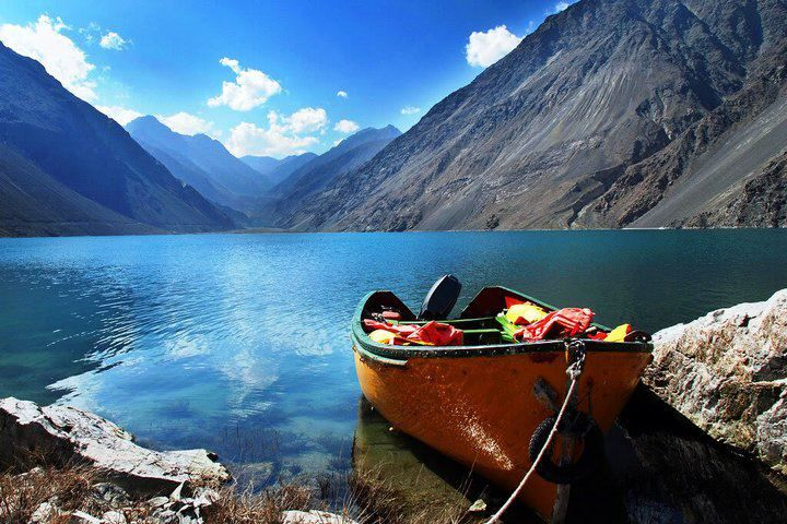 Satpara Lake in Skardu, Pakistan. pakistan tourism lake vacations