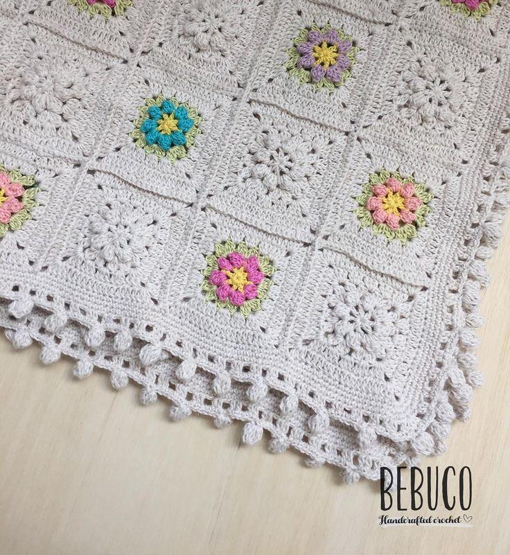 751 best mantas bebe crochet images on Pinterest | Crochet afghans ...