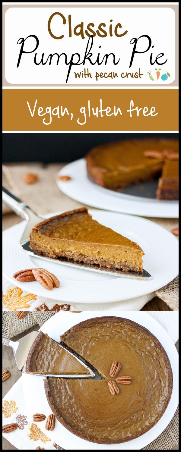 Creamy, dreamy, easy pumpkin pie all wrapped in a pecan crust present. Plant-based, vegan and refined sugar free. A dream come true!