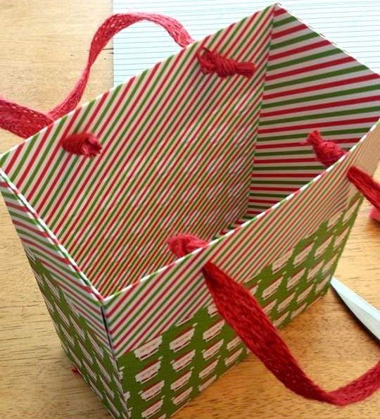 how to make designer paper bags at home
