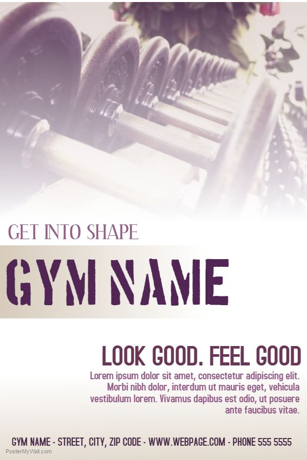 Gym Advertisement Poster Template.  Advertising Poster Templates