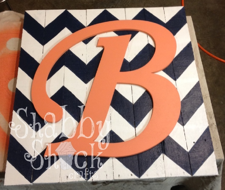DIY Monogrammed Wall Art