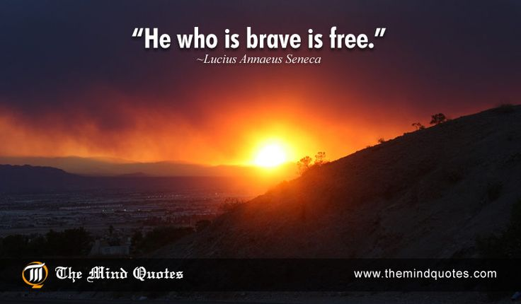 He who is brave is free.Lucius Annaeus Seneca Quotes on Bravery and Freedom