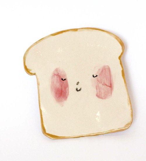 Un #plato que es una tostada monisima!!! Perfecto para #desayunar! por CharlotteMei en Etsy