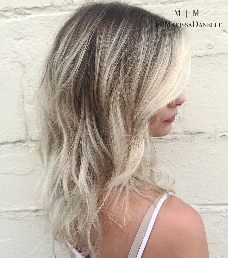Rooty Ash pale blonde hair | hair by @marissadanelle