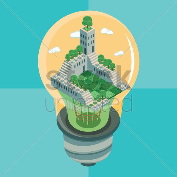 Building in electric lightbulb