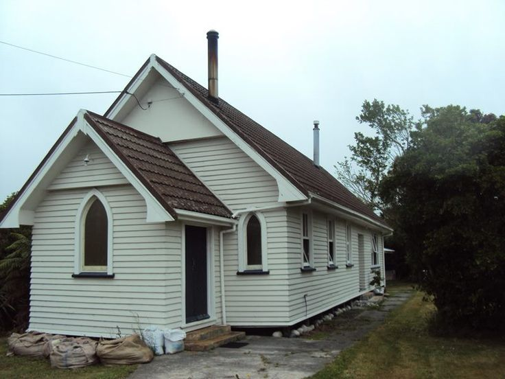 Church at Peel St, Westport, West Coast, New Zealand, now a residence.