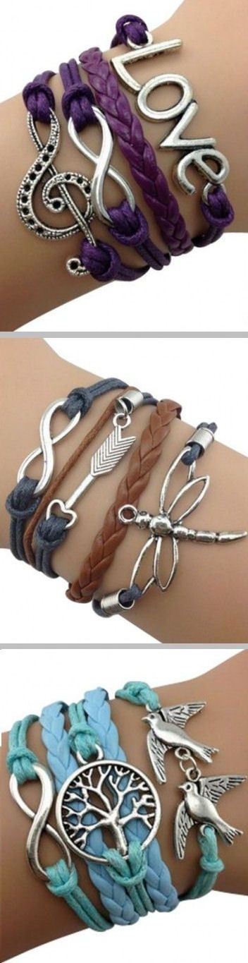 Leather Wrap Bracelets ♥ L.O.V.E.