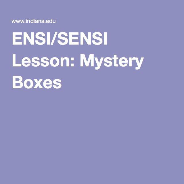 ENSI/SENSI Lesson: Mystery Boxes