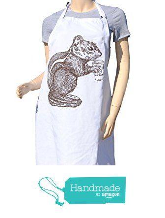 $29 FREE SHIPPING - Kitchen Apron - Brown Chipmunk Apron - Crafting Apron - Baking Apron - Animal Apron from Heaps Handworks  #handmadeatamazon  #apron #aprons #kitchenaprons #kitchenapron #bbqapron #bbqaprons #cooksapron #cooksaprons #cooks #chef #baking