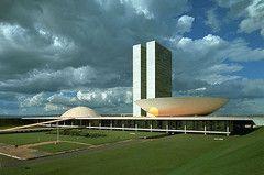 Дворец Национального конгресса в Бразилиа 1960г.