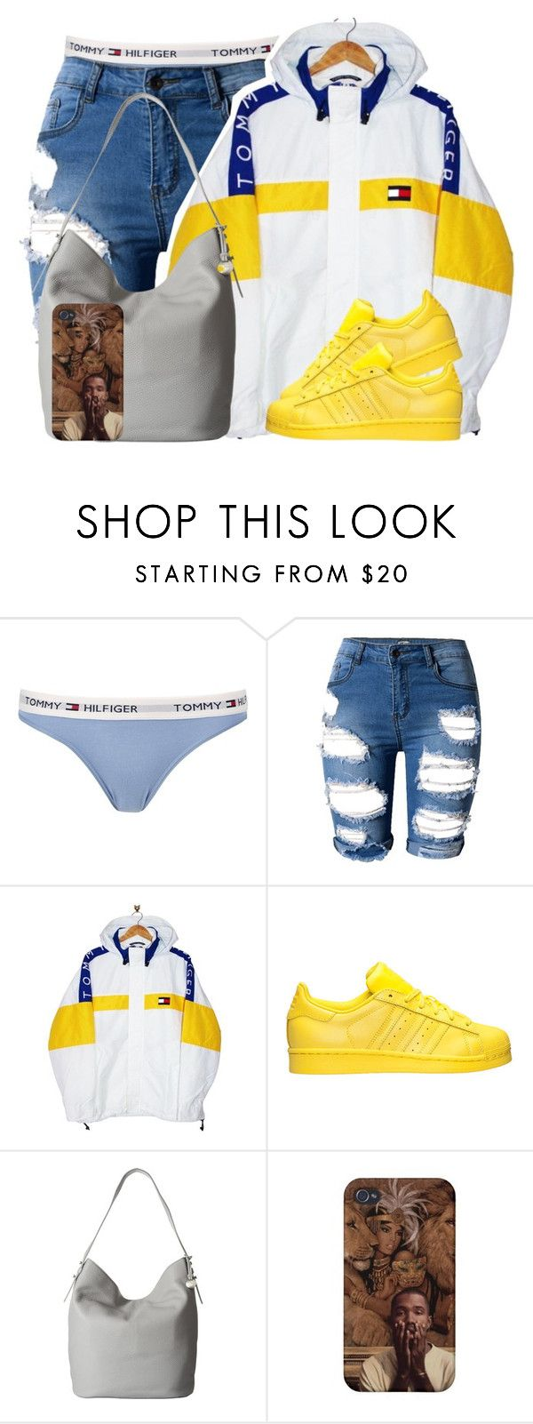 """In My Tommy Boxers "" by g0ldenchicaa ❤ liked on Polyvore featuring Tommy Hilfiger, adidas and Skagen"