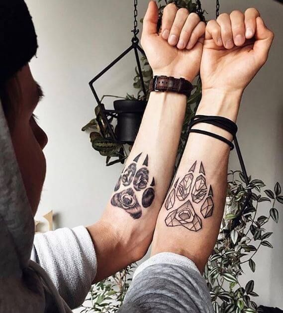 Wolf Tattoos Couples Tattoo Designs Wolf Tattoo Design Wolf Paw Tattoos