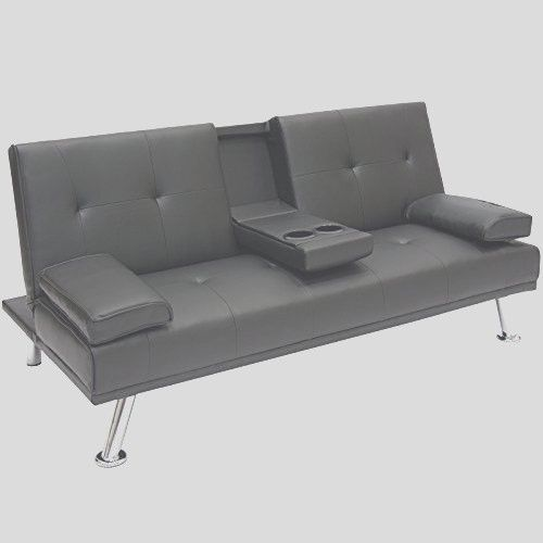 Leather Sofa Bed Sleeper Modern Futon Convertible Down Movies Living Room New #ModernSofaBedFutonConvertibleFoldUpDown #Modern