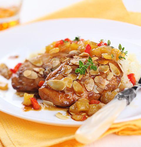 Курица с миндалем и курагой: пошаговый рецепт с фото, купить ингредиенты