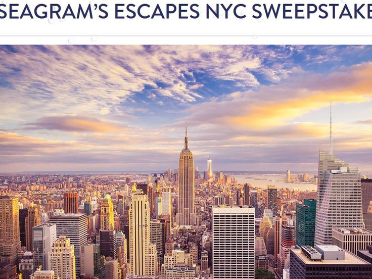 Enter the Seagram's Escapes Indulge in NYC with Kathy Wakile Sweepstakes for your chance to win a 2-night trip for two to New York, NY to attend the Indulge in Escapes with Kathy Wakile Event!