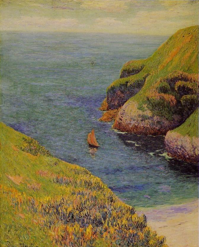 """""""Une anse à Belle-Ile-en-Mer"""", by Henri Moret"""