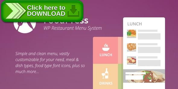 [ThemeForest]Free nulled download foodpress - Restaurant Menu & Reservation Plugin from http://zippyfile.download/f.php?id=44035 Tags: ecommerce, food items, foodpress, meal types, menu, menu manager, online order, reservation system, reservations, restaurant menu, Restaurant Order Online, restaurant reservation system, woocommerce