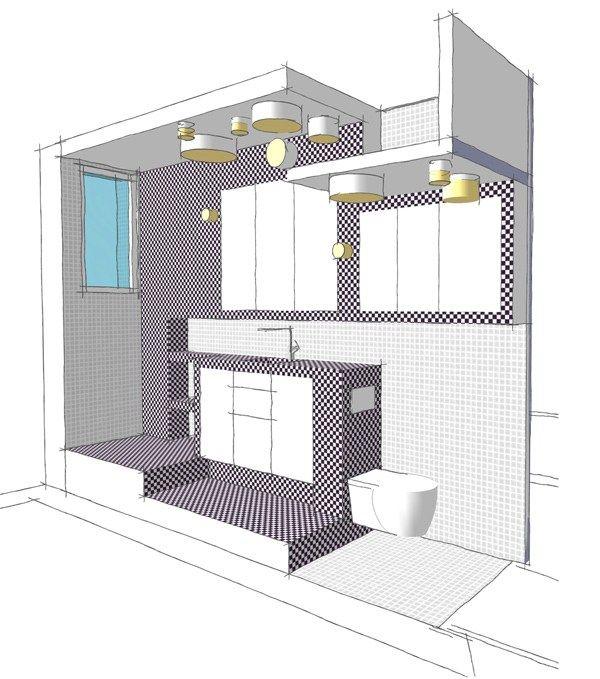 Les 25 meilleures id es de la cat gorie salle de bains for Salle de bain dans un couloir