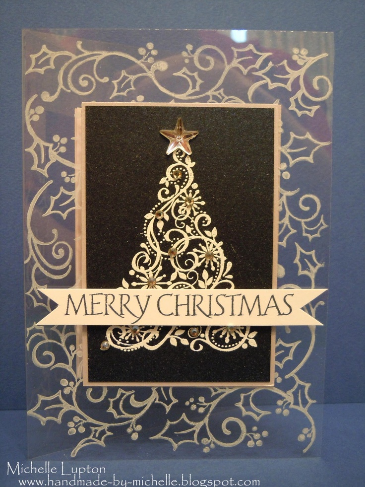 Handmade by Michelle: Week 1, card 5 Holiday card boot camp - Acetate card