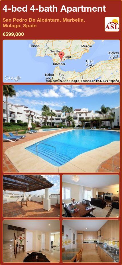 4-bed 4-bath Apartment in San Pedro De Alcántara, Marbella, Malaga, Spain ►€599,000 #PropertyForSaleInSpain