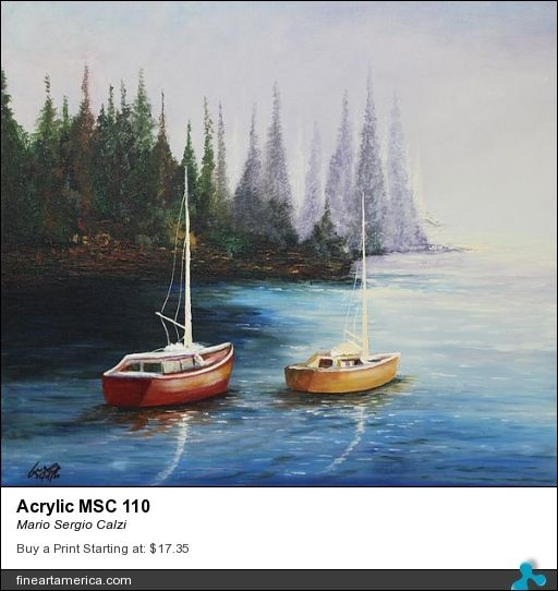 """Review for my painting """"Acrylic MSC 110"""" by Rebecca Anne Dufresne"""