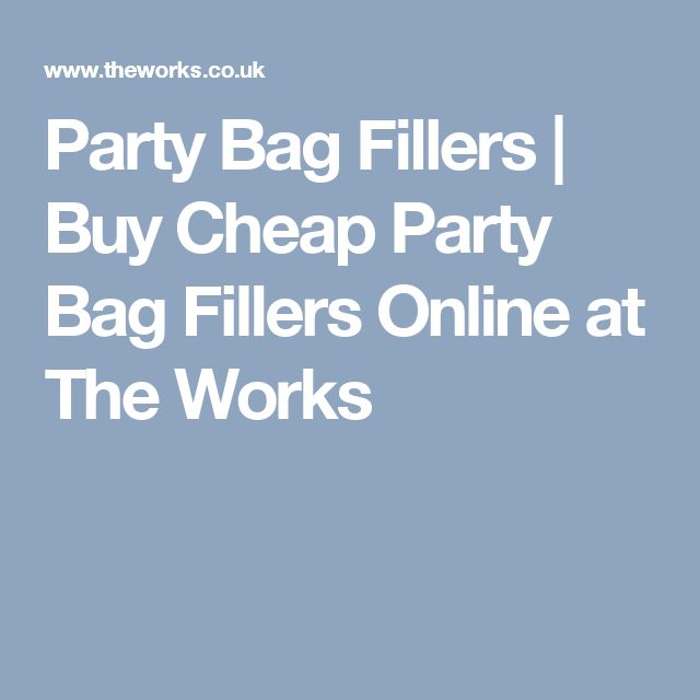 Party Bag Fillers | Buy Cheap Party Bag Fillers Online at The Works