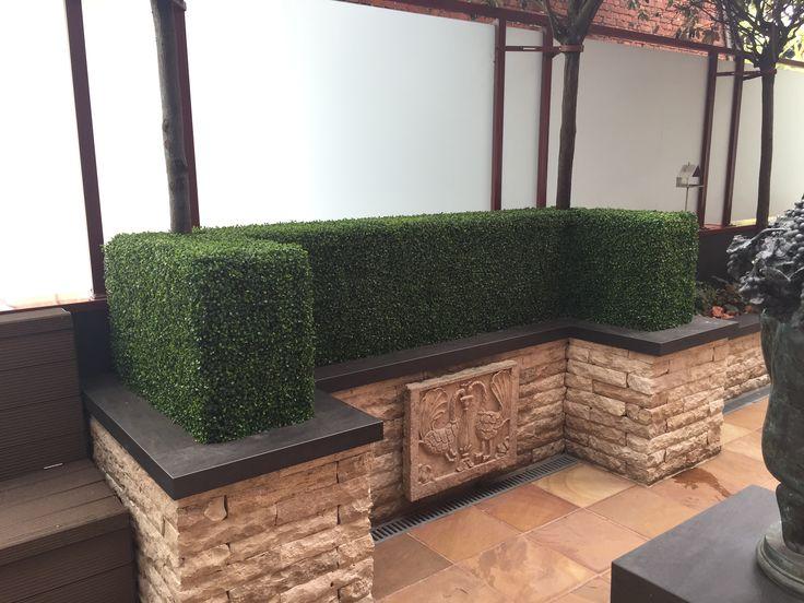 Natuurgetrouwe kunst buxus haag #kunstplanten #maatwerk