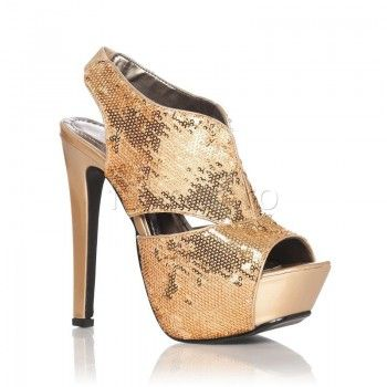 Simtiti-va pretioase asemenea diamantelor! E timpul sa purtati sandalele Sequin – Auriu care va vor alungi silueta cu ajutorul tocurilor de 15,5 cm. Paietele aurii vor atrage privirile si veti fi admirate de domni si invidiate de restul damelor. Iesiti din anonimat cu sandalele Sequin – Auriu!